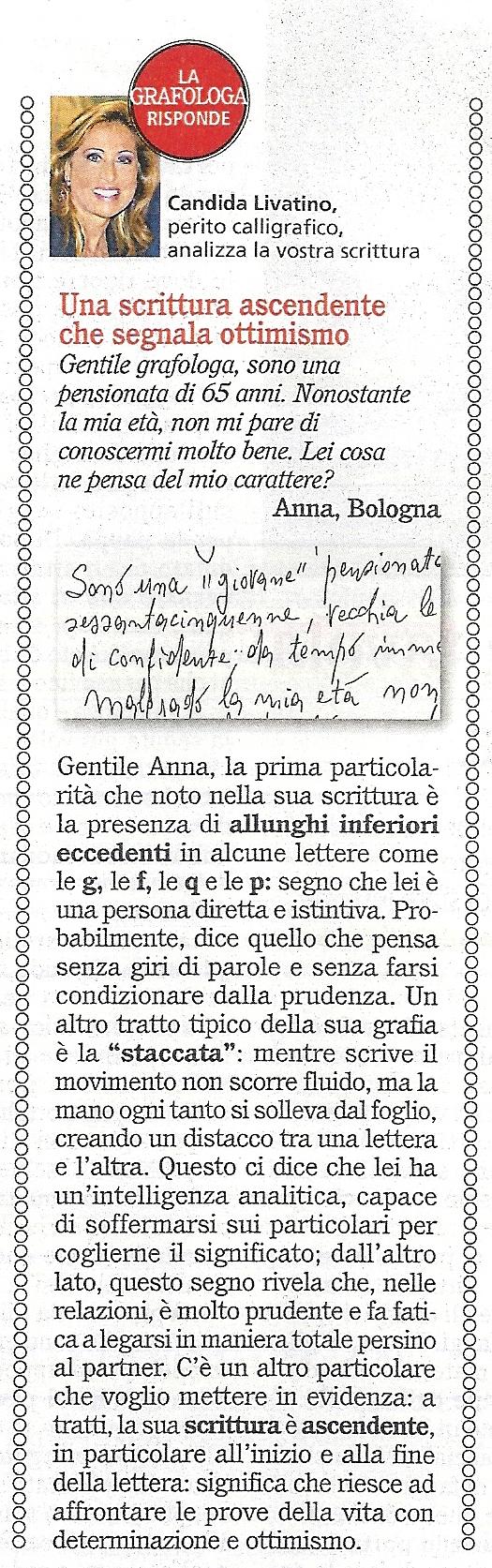 Confidenze - Gennaio 2013 - Candida Livatino