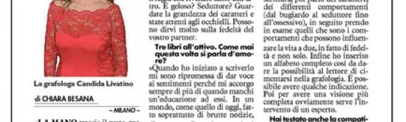 """Intervista su """"Il Giorno"""" del 13 APRILE 2016"""